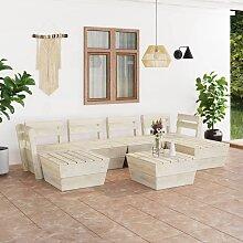 vidaXL 7-tlg. Garten-Paletten-Lounge-Set