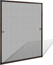 vidaXL 80x100 cm Insektenschutz Fenster Alu Rahmen