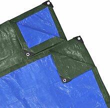 vidaXL Abdeckplane Gewebeplane Schutzplane Abdeckplanen 10x1,5m 210gsm Grün/Blau