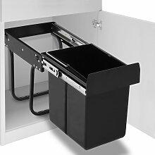 vidaXL Abfallbehälter für Küchenschrank