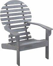 vidaXL Adirondack-Stuhl Massivholz Akazie Grau