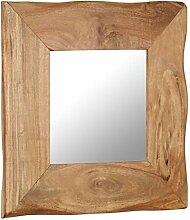 vidaXL Akazie Massiv Kosmetikspiegel 50x50 cm