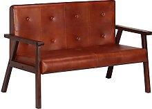 vidaXL Akazienholz Massiv Sofa 2-Sitzer Luxus