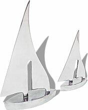 vidaXL Alu 2-TLG. Segelboot Dekoration Segelschiff