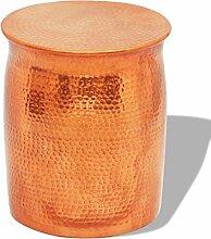 vidaXL Alu Hocker Beistelltisch Couchtisch Sofa Loungetisch Messing/ Kupferfarbe