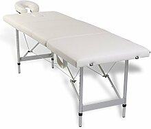 vidaXL Alu Massage Liege Bank Massagetisch