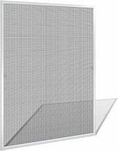 vidaXL Alu Rahmen Fliegengitter Mückengitter 100x120cm Insektenschutz Fenster Gitter