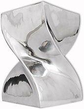vidaXL Aluminium Hocker Beistelltisch Couchtisch