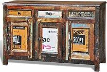 vidaXL Anrichte Kommode Recyceltes Massivholz