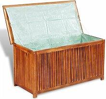 vidaXL Aufbewahrungsbox Truhe Gartentruhe Auflagenbox Akazie Holz Kissenbox Gartenbox