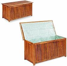 vidaXL Auflagenbox Akazienholz Holztruhe Kissenbox