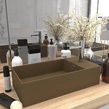 vidaXL Badezimmer-Waschbecken mit Überlauf