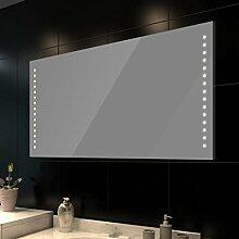 vidaXL Badspiegel LED Beleuchtung 100x60cm