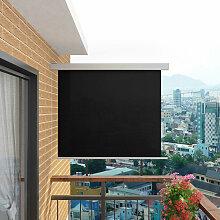 vidaXL Balkon Seitenmarkise 140x250cm Braun Senkrechtmarkise Sonnenschutz