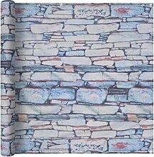 vidaXL Balkonbespannung 75x400cm Steinmauer
