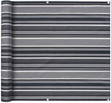 vidaXL Balkonbespannung 90x400 cm Grau