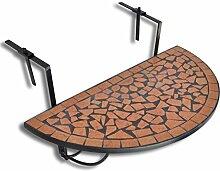 vidaXL Balkontisch Mosaik Terrakotta Klapptisch