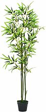 vidaXL Bambus Kunstpflanze mit Topf 150cm Grün