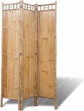 Vidaxl - Bambus Raumteiler Paravent 3-teilig