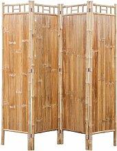 Vidaxl - Bambus Raumteiler Paravent 4-teilig
