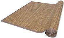 vidaXL Bambus Teppich Küchenteppich Bambusmatte