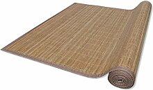 vidaXL Bambus Teppich Läufer Bambusteppich Küchenteppich Bambusmatte Vorleger