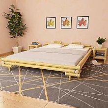 vidaXL Bambusbett 180x200cm Natur Bambus Bett