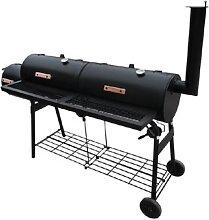 vidaXL Barbecue-Smoker Grill Nevada XL Schwarz