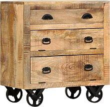vidaXL Beistellschrank mit Rädern 70 x 40 x 75 cm