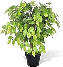 vidaXL Birkenfeige Ficus benjamini Kunstpflanze