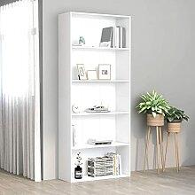vidaXL Bücherregal 5 Fächer Standregal