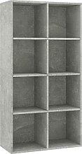 vidaXL Bücherregal Sideboard 8 Fächer Kommode