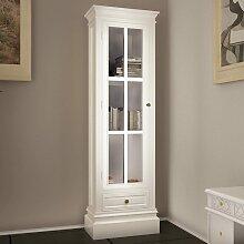 vidaXL Bücherschrank aus Holz mit 3 Regalen Weiß
