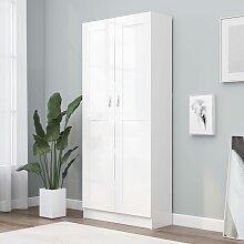 vidaXL Bücherschrank Weiß 82,5x30,5x185,5 cm