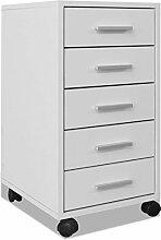 vidaXL Bürocontainer Rollcontainer Büroschrank