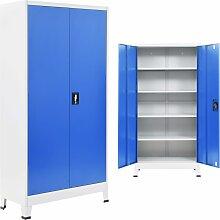 vidaXL Büroschrank Metall 90 x 40 x 180 cm Grau