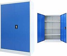 vidaXL Büroschrank Metall 90x40x140cm