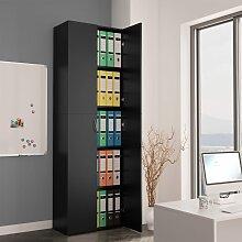 vidaXL Büroschrank Schwarz 60×32×190 cm