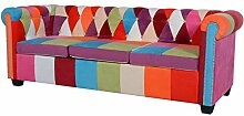 vidaXL Chesterfield Sofa 3-Sitzer Loungesofa Couch