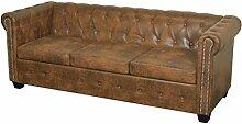 vidaXL Chesterfield Sofa 3 Sitzer Vintage Lounge