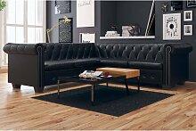vidaXL Chesterfield Sofa 5-Sitzer Kunstleder