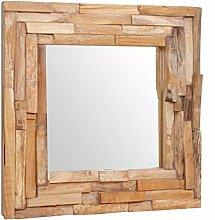 vidaXL Dekorativer Spiegel Teak 60 x 60 cm