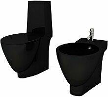 vidaXL Design Stand WC Bidet Bodenstehend