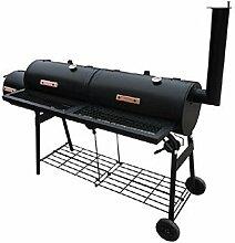 vidaXL Doppel Grillbox Smoker BBQ Grillwagen