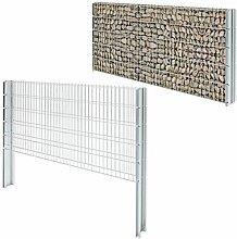 vidaXL Doppelstabmattenzaun Gabionen Gittermattenzaun Gartenzaun 2008x1030mm 10m