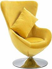 vidaXL Drehstuhl in Ei-Form mit Kissen Sessel