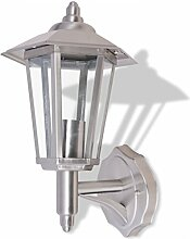 vidaXL Edelstahl Außenleuchte Außenwandlampe Gartenlampe Gartenleuchte IP44 E27