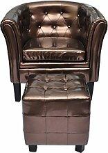 vidaXL Edle Chesterfield Edler Sessel Lounge Sofa Wohnzimmer Sitzhocker Couch