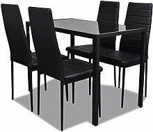 vidaXL Essgruppe 5tlg. Esstisch Set Sitzgruppe