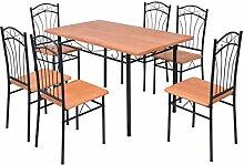 vidaXL Essgruppe Esstisch 6 Stühle